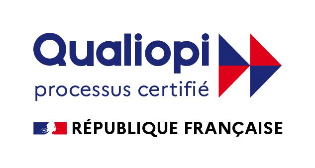 Logo Qualiopi processus certifié attestant du respect du référentiel national qualité des organismes de formations